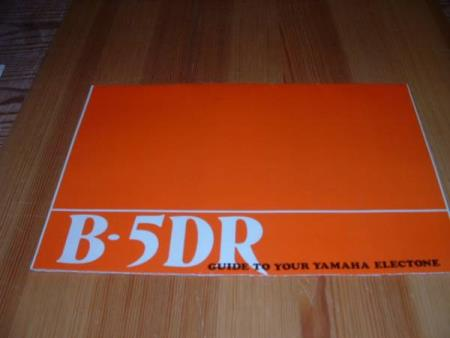 GUIDE TO YOUR YAMAHA ELECTRONE  B - 5 DR