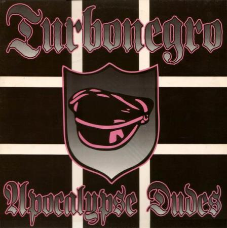 Turbonegro - Apocalypse Dudes - US Pink Vinyl 1999 Utgave - Oslo - Turbonegro - Apocalypse Dudes - MR 149 - Man's Ruin Records - US - 1999 Sjelden Rosa Vinyl Utgave Side A: 1 The Age Of Pamparius 2 Selfdestructo Bust 3 Get It On 4 Rock Against Ass 5 Don't Say Motherfucker, Motherfucker 6 Rendezvous With Anus 7 Zil - Oslo