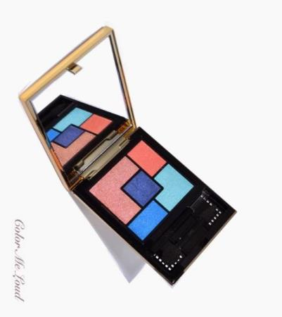 YSL palette 5-color ready-to-wear eye shadow - nypris 475,- - Oslo - YSL palette 5-color ready-to-wear eye shadow - 62KN01 Bleus Lumiére Collection A 'burst of aquatic tones' mixed with colourful pops of complimenting orange, coral and pink, the new collection features a variety of products (nail polishes, lip glos - Oslo