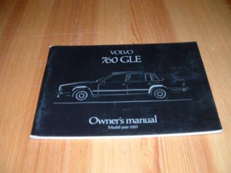 OWNERS MANUAL VOLVO 760 GLE - 1983