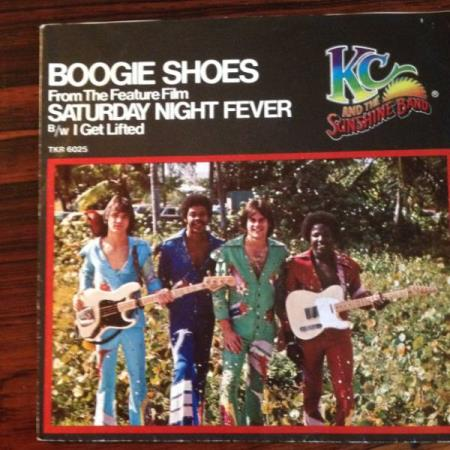 KC and the Sunshine band: Boogie Shoes 1978. Mg. fin vinyl.