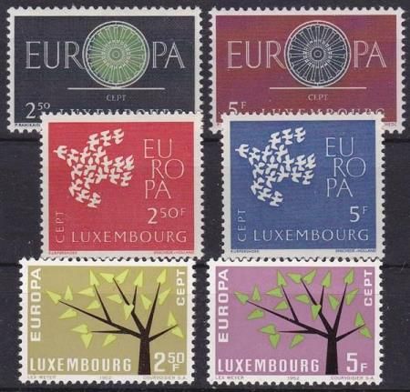 LUXEMBOURG 629/30-643/44-653/54 CEPT 1960,61,62 POSTFRISK