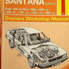 VW Passat & Santana 1981 to oct 1988. Owners workshop manual