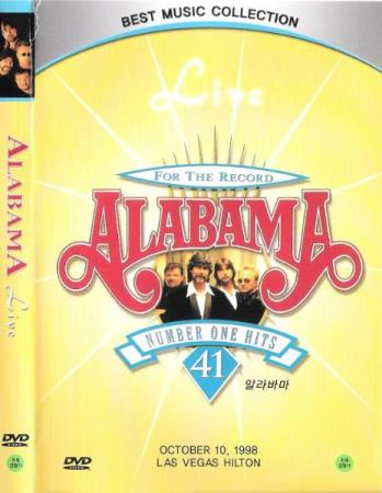 ALABAMA.-LIVE.-FOR THE RECORD.-41 NUMBER ONE HITS.-1998. - Notodden - FIN DVD.  - Notodden
