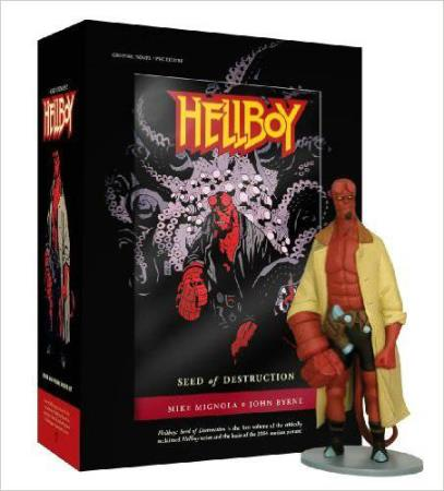 HELLBOY - SEED OF DESTRUCTION COMIC AND FIGURE SET