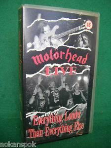 Motörhead - Everything Louder Than Everything Else - VHS