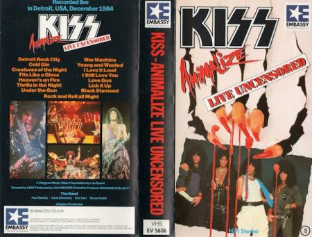 Kiss - Animalize Live Uncensored - VHS