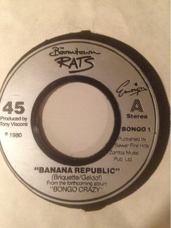 THE BOOMTOWN RATS. - BANANA REPUBLIC