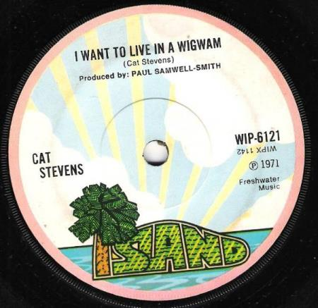 CAT STEVENS.-MORNING HAS BROKEN-I WANT TO LIVE IN A WIGWAM.