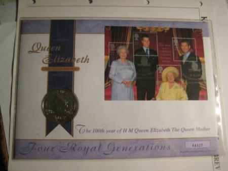 Myntbrev England The Queen Mother 5 Pund 2000