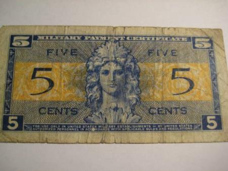 5 Cents  serie 521 Military Payment
