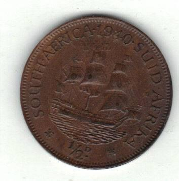 Syd-Africa 1/2 penny 1940