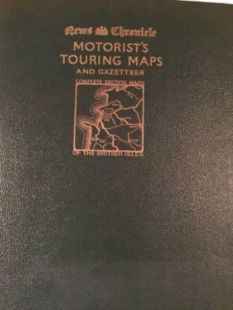 Motorist`s touring maps and gazetteer. Complete section map