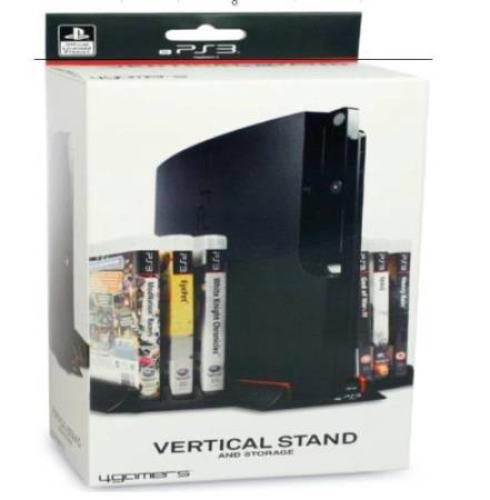 VERTICAL STAND AND GAME STORAGE PS3 (PLAYSTATION 3)