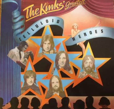 The Kinks- Celluloid Heroes - Sandefjord - (LP)- The Kinks Greatest Celluloid Heroes- vinyl og cover i bra stand- APL 1- 1743- 1976.  - Sandefjord