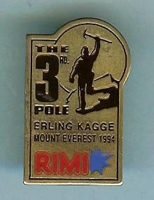Erling Kagge - The 3rd. Pole - Mount Everest 94 - RIMI pin