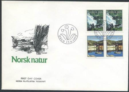 Norge FDC: 0843-44. Norsk natur III, 1979 (Off.). Uadress.