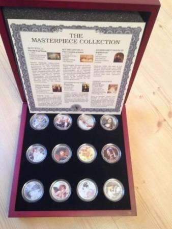 USA the masterpiece collection 12 mynter (half dollars)