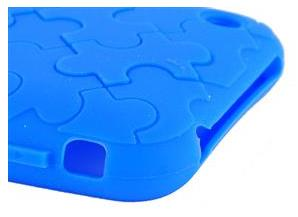 puzzel silicone cover,blue color, Iphone 3G