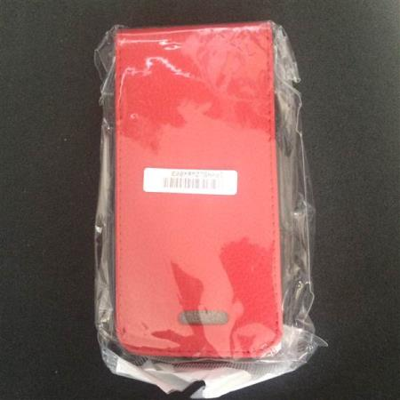 wallet cover, red color, Iphone 5/5 S