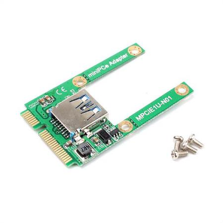 Mini PCI-e TIL USB 2.0 ADAPTER KORT - Oslo - Mini PCI-e TIL USB 2.0 ADAPTER KORT KUN KR. 79.- Expansion of USB interface can connect U disk, USB Bluetooth adapter, WIFI adapter, USB Flash Memory etc. The adapter is for a mini PCI-e slot to USB 2.0 device interface. USB2.0-compliant, backward  - Oslo
