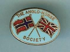 The Anglo-Norse Society - eldre nål Storbritannia Norge bånd