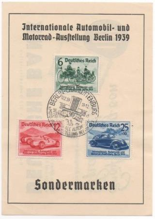 Internationale Automobil- und Motor Utstilling Berlin 1939.