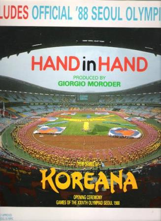KOREANA.-HAND IN HAND.-OFFICIAL 88 SEOUL OLYMPIC SONG. - Notodden - FIN.  - Notodden