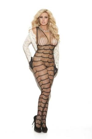Bodystocking med vertikale striper