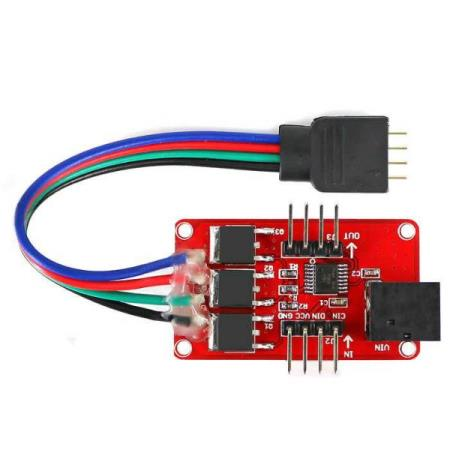 RGB LED STRIP DRIVER MODULE 12V JACK – FOR ALLE TYPER MCU - Oslo - RGB LED STRIP DRIVER MODULE 12V JACK PASSER SÅ OG SI ALLE TYPER MCU SOM BL.A: ARDUINO, BANANA Pi, RASBERRY Pi, 8051, ARM, AVR, PIC KUN KR. 99.- Based on P9813, it is cascadable full-color RGB LED strip driver module. Just two signal lines and two  - Oslo