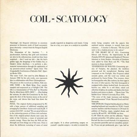 Coil  –  Scatology