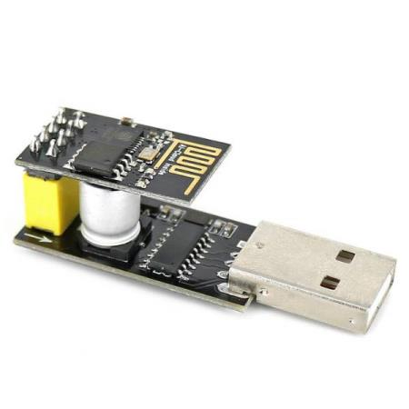 USB to ESP-01 WiFi SERIAL TRANSCEIVER MODULE FOR ARDUINO - Oslo - USB to ESP-01 WiFi SERIAL TRANSCEIVER MODULE FOR ARDUINO KUN KR. 99.- ESP-01 is WiFi serial transceiver module based on ESP8266.The SOC has Integrated TCP/IP protocol stack.It is TTL serial communication interface and its parameters can be set by A - Oslo