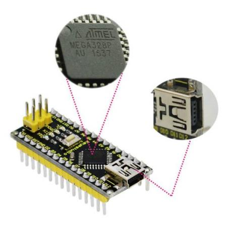 CONTROLLER BOARD + USB CABLE FOR ARDUINO CH340 NANO - Oslo - CONTROLLER BOARD USB CABLE FOR ARDUINO CH340 NANO KUN KR. 139.- 1. 12 Digital I/O Pins D2~D13 2. 8 Analog Input Pins A0~A7 3. Pin 0 (RX) and 1 (TX) used to receive (RX) and transmit (TX) TTL serial data 4. 6 PWM pins, D3, D5, D6, D9, D10, D11 5. At - Oslo