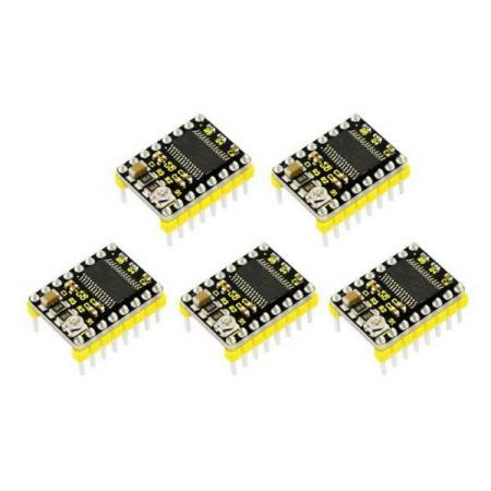 5 x 3D PRINTER DRV8825 STEPPER MOTOR DRIVER FOR ARDUINO - Oslo - 5 x 3D PRINTER DRV8825 STEPPER MOTOR DRIVER FOR ARDUINO KUN KR. 249.- The DRV8825 stepper motor driver carrier is a breakout board for TI's DRV8825 microstepping bipolar stepper motor driver. The module has a pinout and interface that are nearly id - Oslo