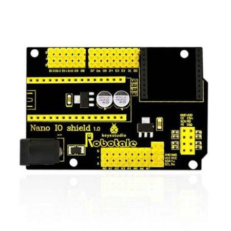 NANO IO SHIELD FOR ARDUINO NANO 328P - Oslo - NANO IO SHIELD FOR ARDUINO NANO 328P KUN KR. 129.- Nano IO shield is a breakout board designed for Nano 328P. It breaks out all pins as electronic brick 3pin interface. It has a 7-12V external power interface, with XBee socket and 24L01 socket, ext - Oslo