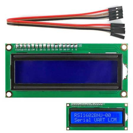 LCD DISPLAY MODULE 1602 IIC/I2C w/ 4P WIRE FOR ARDUINO - Oslo - LCD DISPLAY MODULE 1602 IIC/I2C w/ 4P WIRE FOR ARDUINO KUN KR. 89.- The module is a high-quality 2 line 16 character LCD module with I2C interface and it is a basic character LCD screen for lots of applications. It is compatible with Arduino UNO R3 - Oslo