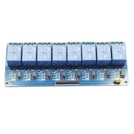 5V 8-CHANNEL RELAY MODULE w/ OPTOCOUPLER ISOLATION – FOR MCU - Oslo - 5V 8-CHANNEL RELAY MODULE w/OPTOCOUPLER ISOLATION PASSER SÅ OG SI ALLE TYPER MCU SOM BL.A: ARDUINO, BANANA Pi, RASPBERRY Pi, 8051, ARM, AVR, PIC KUN KR. 119.- - Using a large current relay, AC 250V 10A DC 30V 10A contacts part independent wiring,  - Oslo