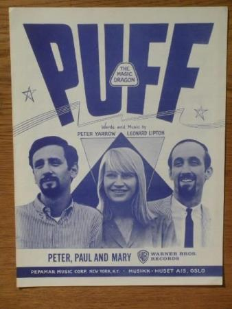 Dekorativt noteblad: PETER, PAUL and MARY * 1963 * PUFF
