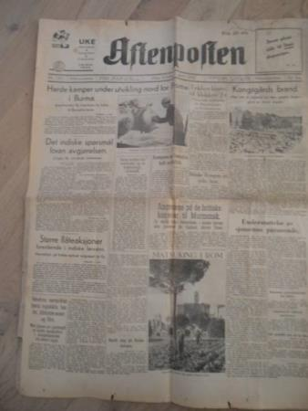 Aftenposten aften - tirs 7. april 1942