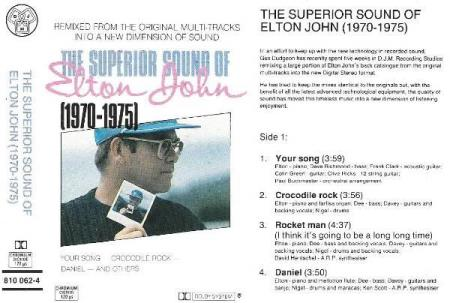 ELTON JOHN.-THE SUPERIOR SOUND OF ELTON JOHN.-1970-1975.