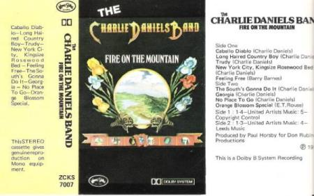THE CHARLIE DANIELS BAND.-FIRE ON THE MOUNTAIN.-1975.
