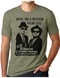BLUES BROTHERS - MISSION FROM GOD T-SKJORTE (OLIVEN)