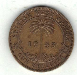 British West-Africa 1 shilling 1943