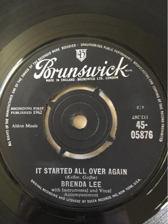 BRENDA LEE /IT STARTED ALL OVER AGAIN