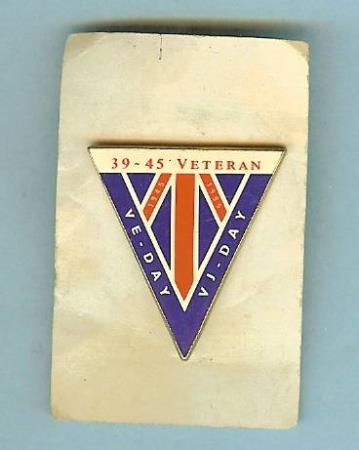 39 - 45 Veteran VE - DAY og VJ - DAY 1945 - 1995 pin