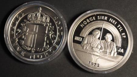 Leve Norge 1905 - 2005 * 1 Troy ounce - 31,1 gr.  rent sølv