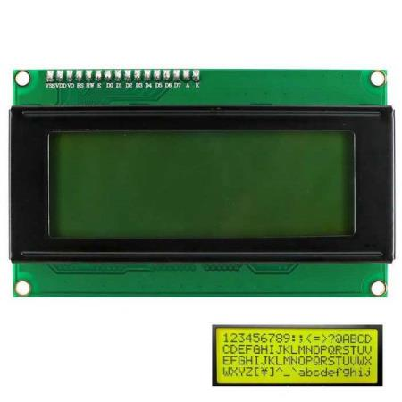 I2C 2004 YELLOW BACKLIGHT LCD DISPLAY MODULE – FOR ALLE MCU - Oslo - I2C 2004 YELLOW BACKLIGHT LCD DISPLAY MODULE PASSER SÅ OG SI ALLE TYPER MCU SOM BL.A: ARDUINO, BANANA Pi, RASPBERRY Pi, 8051, ARM, AVR, PIC KUN KR. 129.- The module is a high-quality 2 line 20 character LCD module with I2C interface and it is a ba - Oslo