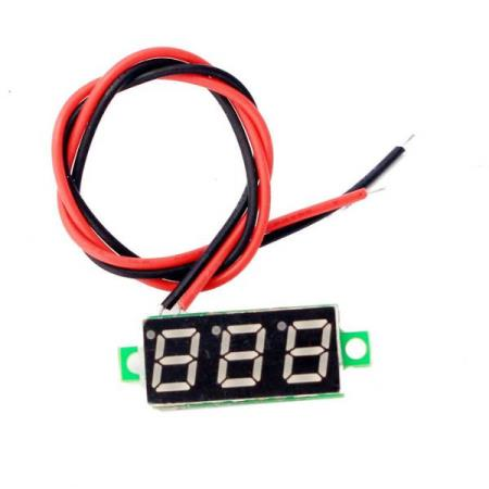 2.5V~30V VOLTMETER 28mm LED DISPLAY - Oslo - 2.5V~30V VOLTMETER 28mm LED DISPLAY KUN KR. 39.- The voltmeter use 0.36 inch digital tube display, with super small volume, area with only a coin similar. Connection is simple, just need to pick up two lines, a joint reverse protection, then do not - Oslo
