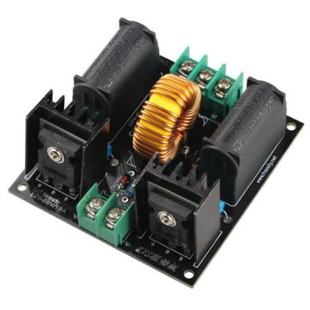 12V-30V ZVS TESLA COIL POWER SUPPLY BOOST VOLTAGE GENERATOR - Oslo - 12V-30V ZVS TESLA COIL POWER SUPPLY BOOST VOLTAGE GENERATOR MODULE KUN KR. 249.- Specification: Size: 74mm x 77mm Input voltage: DC 12-30V Output: HVDC, About 800 times of input voltage Power requirements: Less than 12V 5A, above 15V 15A Operating  - Oslo