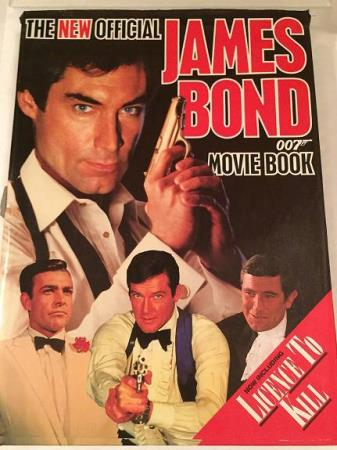 JAMES BOND, 007, movie book. 1989, 140 s. Pluss cast list